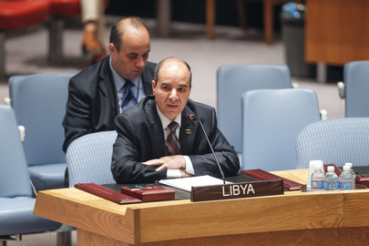 Permanent Representative of Libya at Security Council Meeting