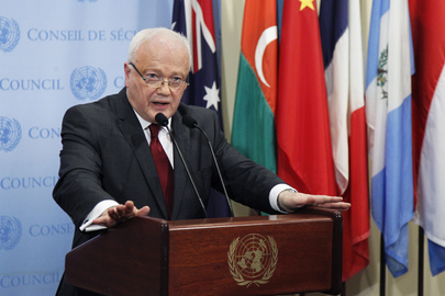 Security Council President Briefs Press on Syria Report