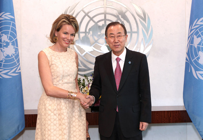 Secretary-General Meets Queen of Belgium
