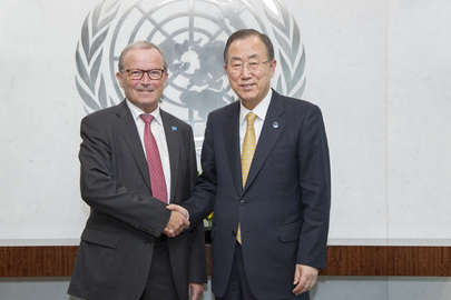 Secretary-General Meets Chairman of LEGO Foundation