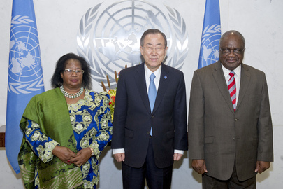 Secretary-General Meets Presidents of Malawi and Namibia