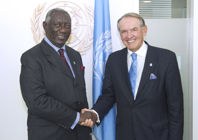 Deputy Secretary-General Meets Former President of Ghana and SWA Chair