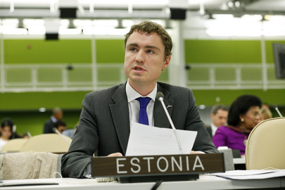 Social Affairs Minister of Estonia Addresses High-level Meeting on Disability and Development
