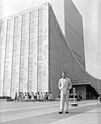 UN Secretary-General in Front of United Nations Headquarters