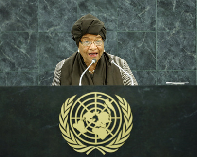 President of Liberia Addresses General Assembly