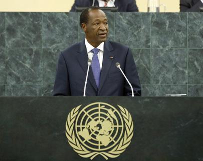H.E. Mr.Blaise Compaoré