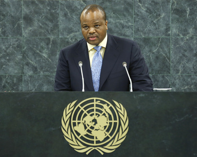 Swaziland Head of State Addresses General Assembly