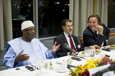 Deputy Secretary-General and President of Mali Meet at UN Reception