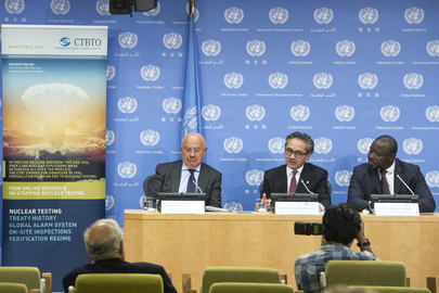 "Press Briefing on Nuclear Test-Ban Treaty ""Article XIV Conference"""