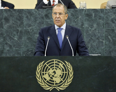 Russian Foreign Minister Addresses General Assembly