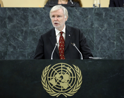 Foreign Minister of Finland Addresses General Assembly