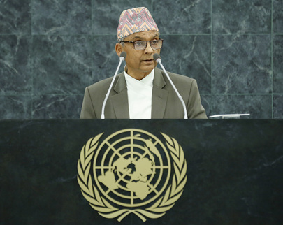 Head of Council of Ministers of Nepal Addresses General Assembly