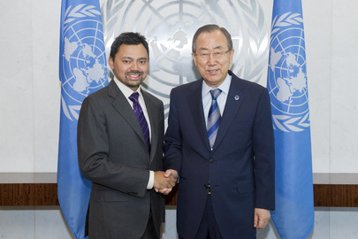 Secretary-General Meets Crown Prince of Brunei Darussalam