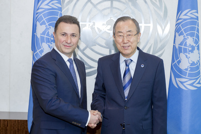Secretary-General Meets Prime Minister of Former Yugoslav Republic of Macedonia