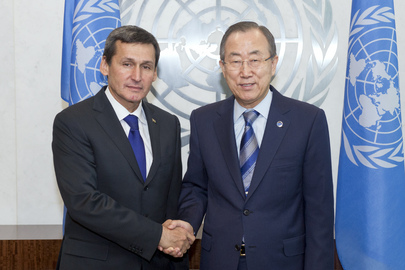 Secretary-General Meets Foreign Minister of Turkmenistan