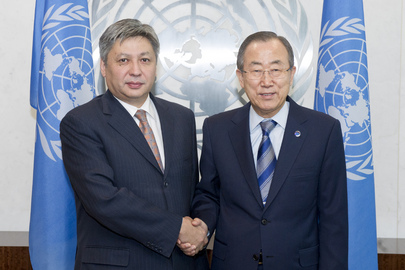 Secretary-General Meets Foreign Minister of Kyrgyzstan