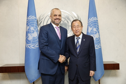 Secretary-General Meets Prime Minister of Albania