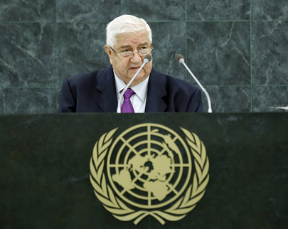 Syrian Foreign Minister Addresses General Assembly