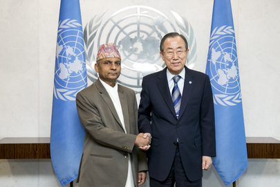 Secretary-General Meets Prime Minister of Nepal