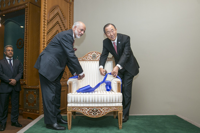Hand-over Ceremony of Chairs Donated by Oman to UN