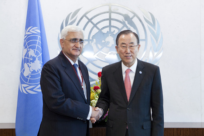 Secretary-General Meets External Affairs Minister of India