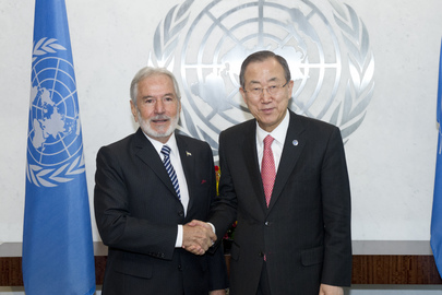 Secretary-General Meets Foreign Minister of Nicaragua