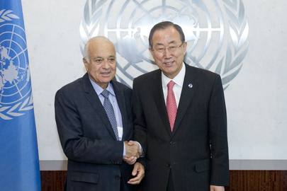 Secretary-General Meets Head of Arab League