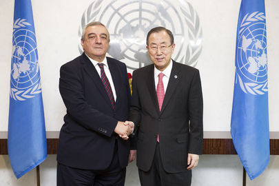 Secretary-General Meets Permanent Representative of Azerbaijan