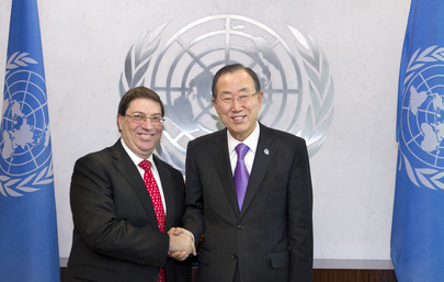 Secretary-General Meets Foreign Minister of Cuba