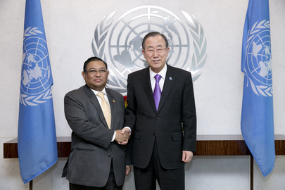 Secretary-General Meets Foreign Minister of Myanmar