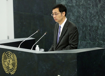 Representative of Japan Addresses High-level Dialogue on Migration and Development