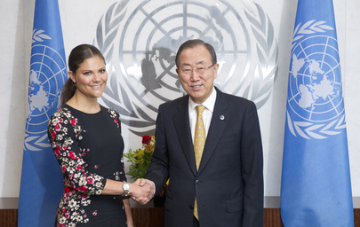 Secretary-General Meets Crown Princess of Sweden