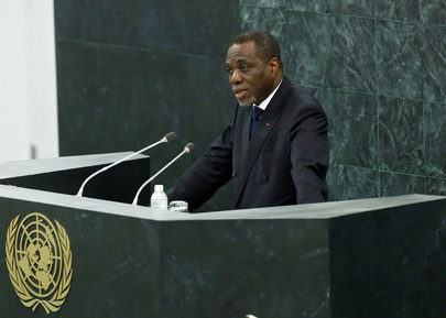 Permanent Representative of Gabon Addresses High-level Dialogue on Migration and Development