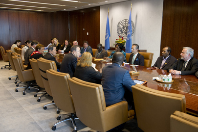 Secretary-General Meets Staff Union Representatives