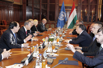 Secretary-General Meets Prime Minister of Hungary