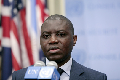 Representative of Central African Republic Speaks to Press
