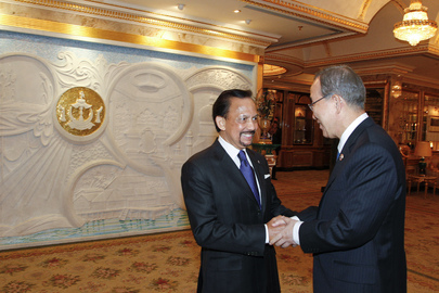 Secretary-General Meets Sultan of Brunei