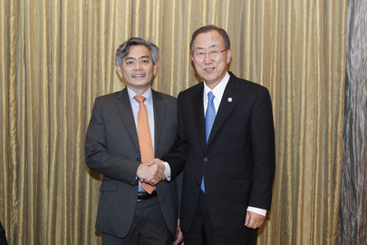 Secretary-General Meets Deputy Foreign Ministry Secretary of Singapore