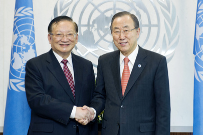 Secretary-General Meets Former Foreign Minister of China