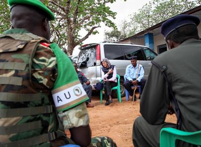 U.K. Development Representative Visits Baidoa, Somalia