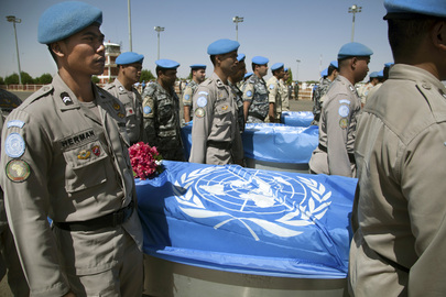 Repatriation Ceremony for Senegalese Peacekeepers Killed in Darfur