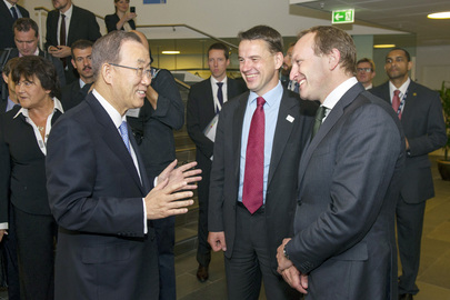 Secretary-General Meets Danish Climate and Development Cooperation Ministers