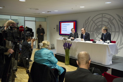 Secretary-General Addresses Press with Danish Climate and Energy Minister