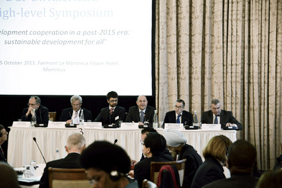 "Symposium on ""Development Cooperation Post-2015"" Held in Montreux"