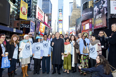 Celebration of United Nations Day at Times Square, New York