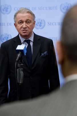 Special Envoy for Implementation of Lebanon Resolution Speaks to Press