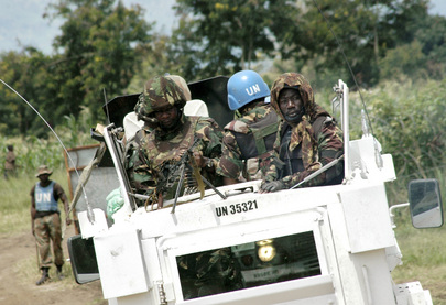 Members of MONUSCO Force Intervention Brigade on Patrol in Kiwanja