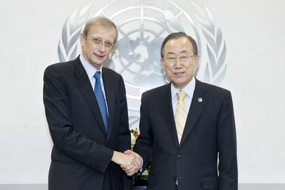 Secretary-General Meets Mayor of Turin
