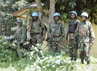 MONUSCO Troops in Bunagana after Town's Recapture from M23