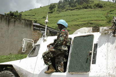 MONUSCO Patrol in Bunagana after Town's Recapture from M23